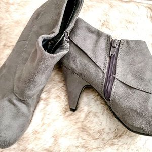 Fioni Gray Ankle Booties